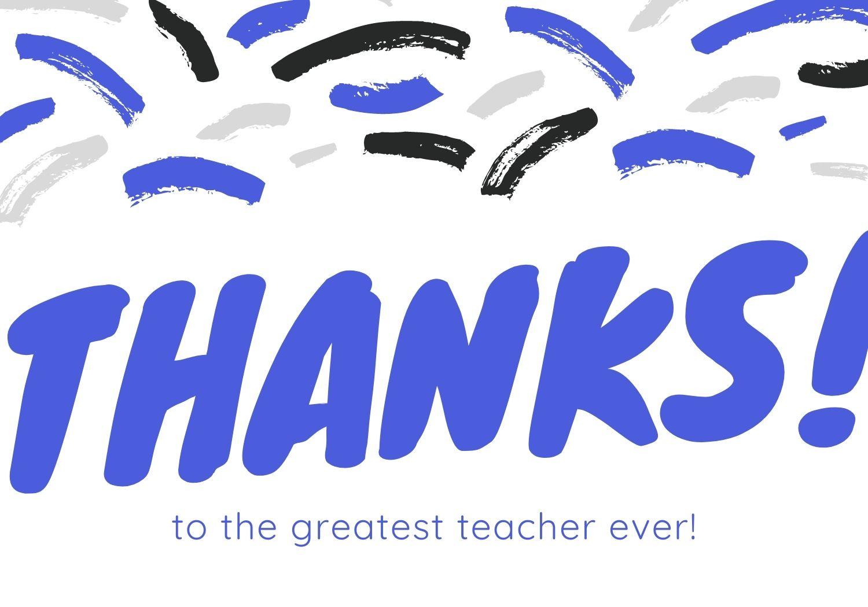 Thanks to Greatest Teacher Ever