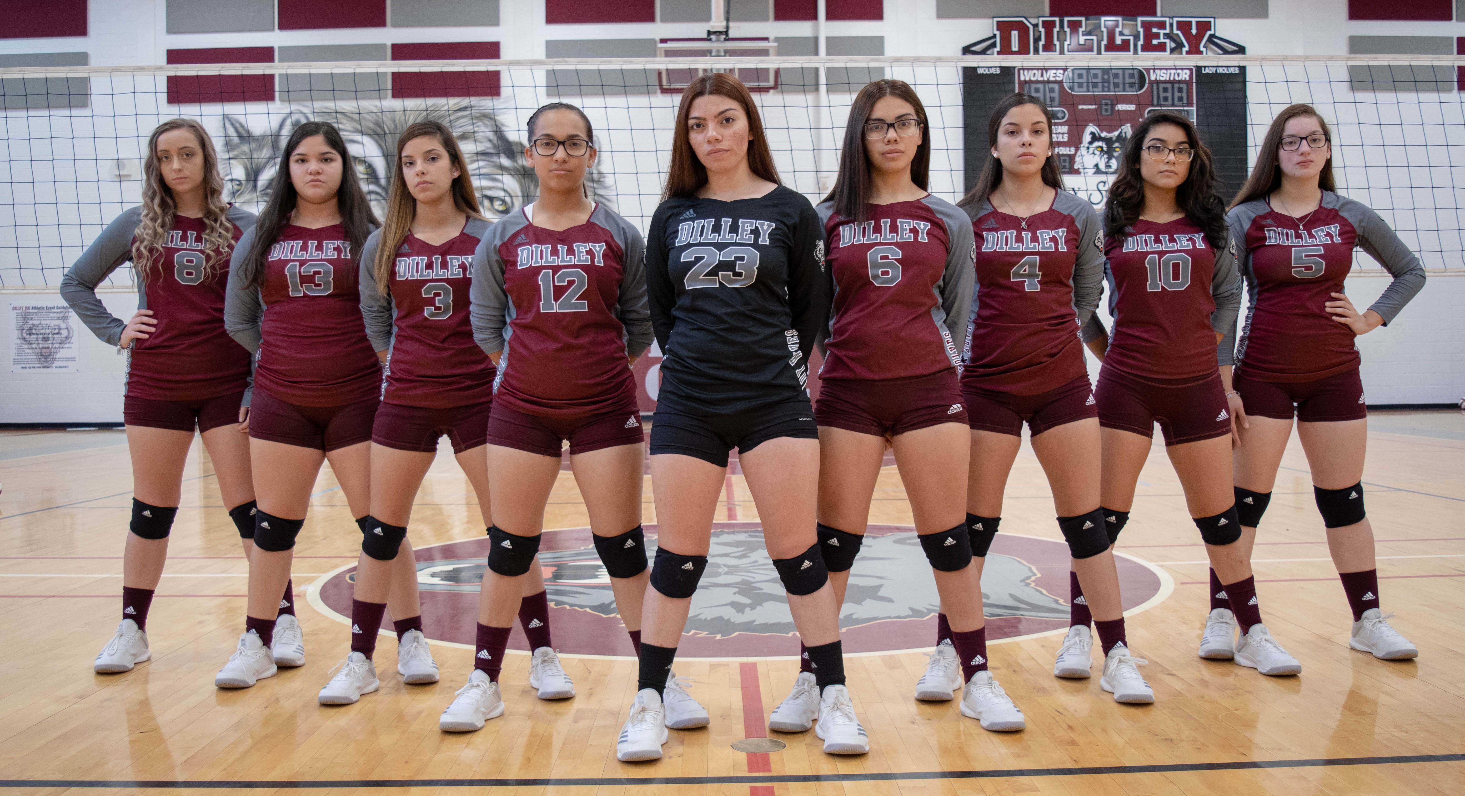 photo of the volleyball team
