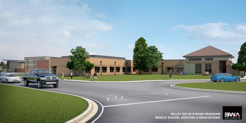 Mary Harper Middle School building rendering