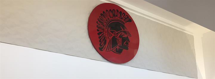 Warrior symbol in the main lobby