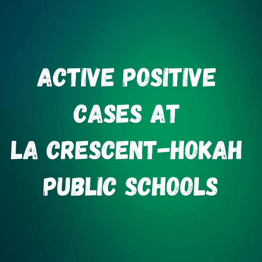 Active positive cases at La Crescent-Hokah Public Schools