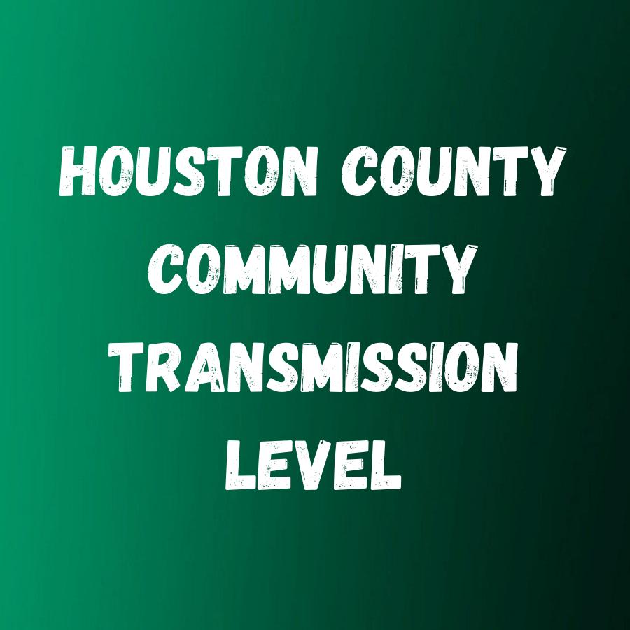 Houston County Current Community Transmission level