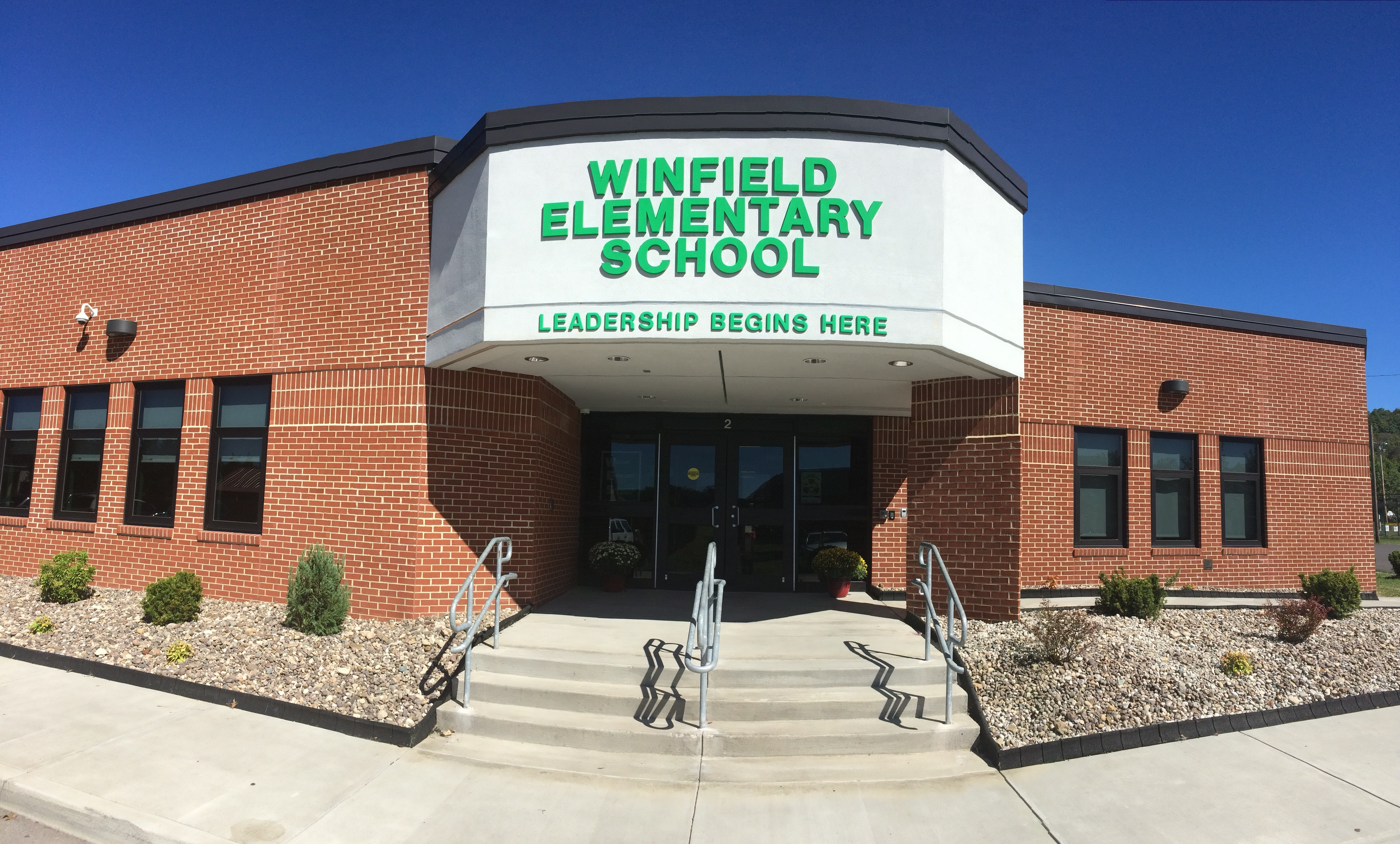 Front entrance of Winfield Elementary