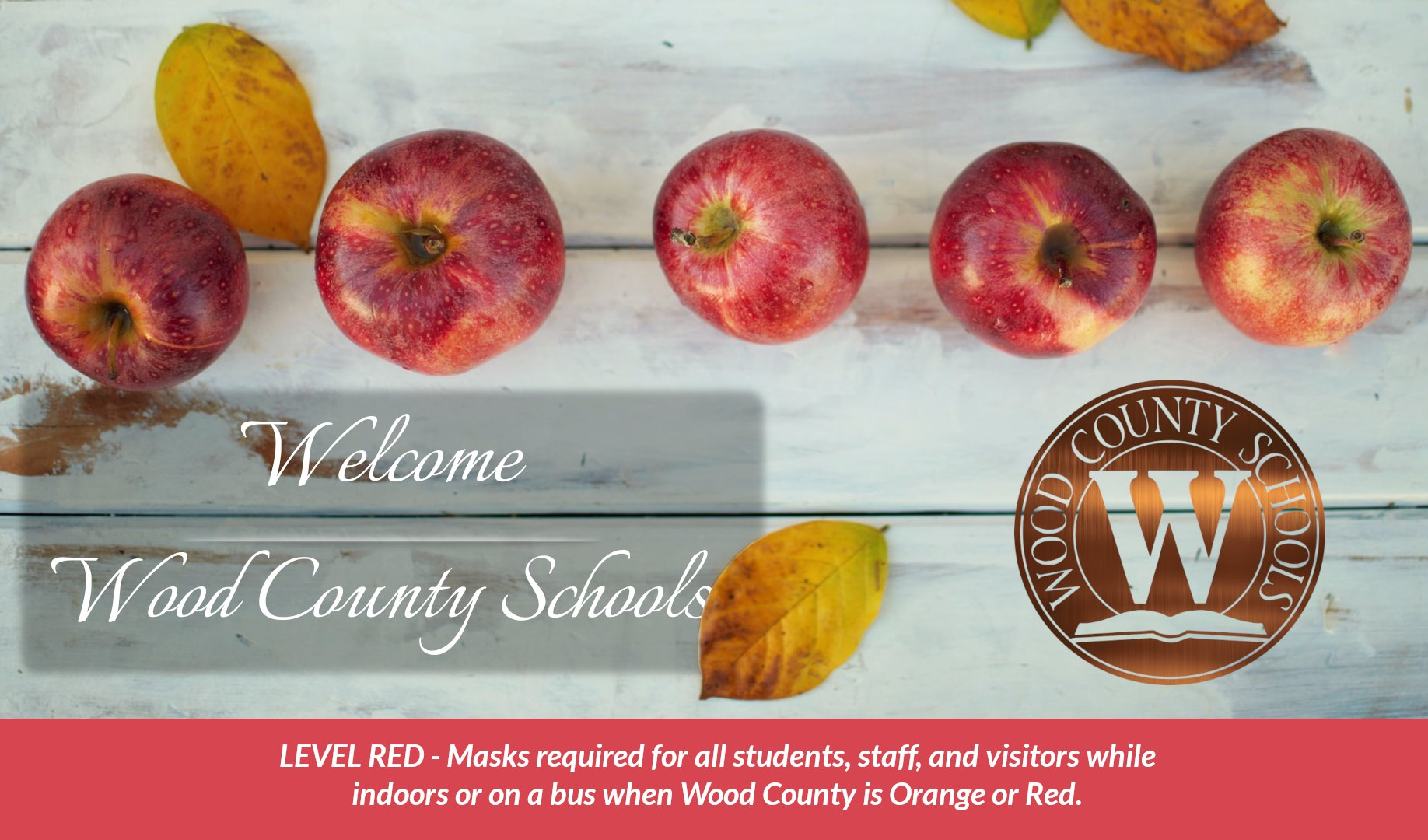 welcome to wood county schools autumn leaves red apples
