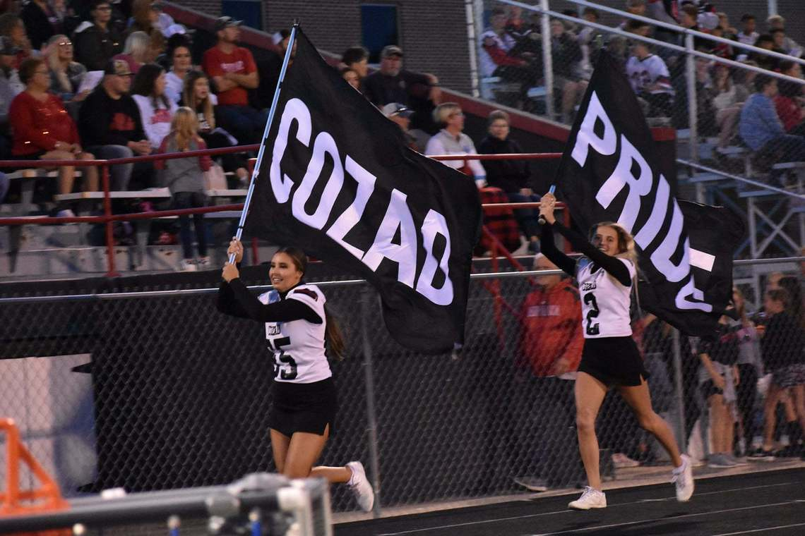 Flag team at football game