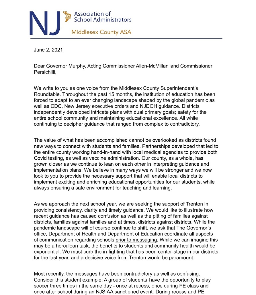 Middlesex Cnty Letter