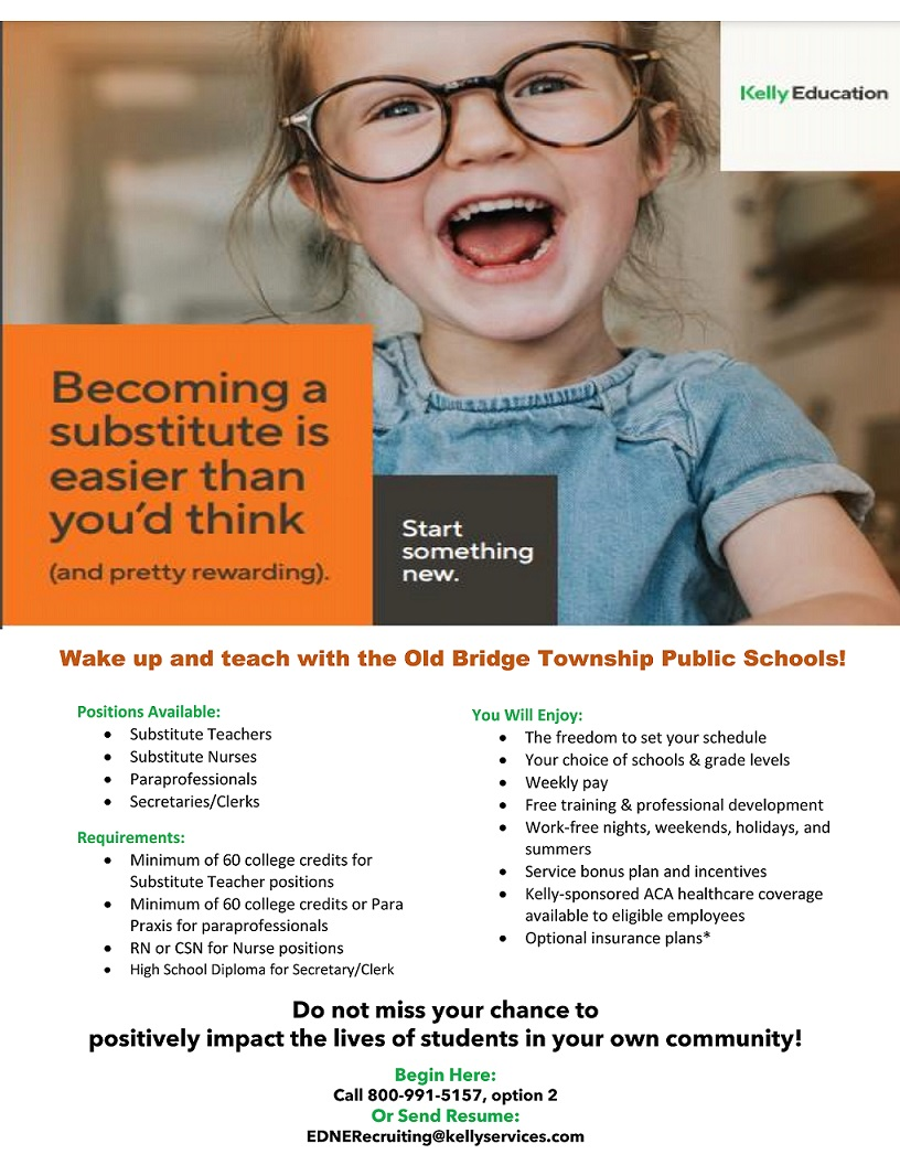 Kelly Service Substitute Flyer