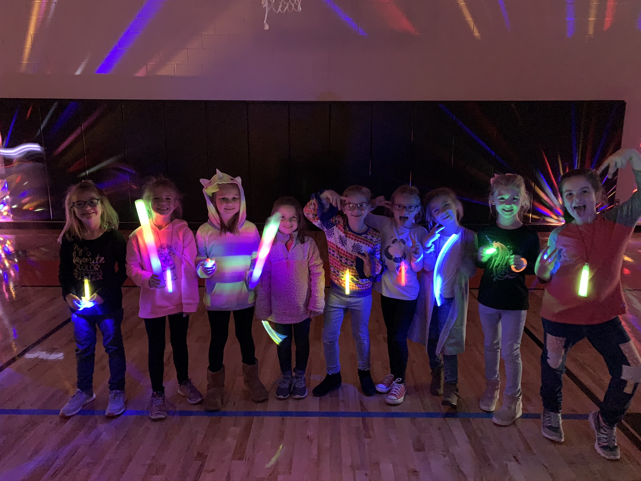 Students With Glowsticks