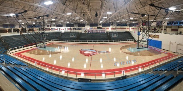 The new gym floor looks awesome!