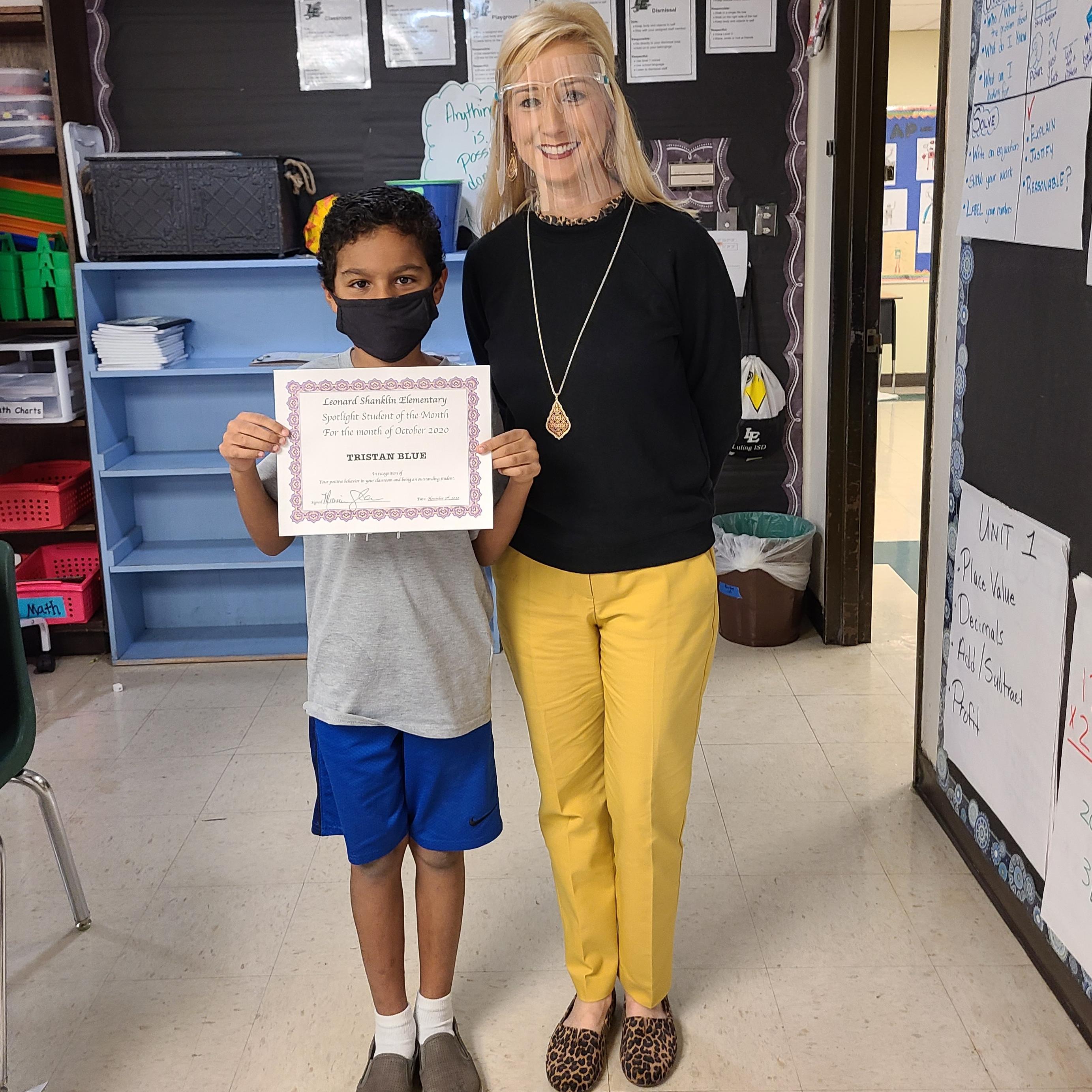 student and principal