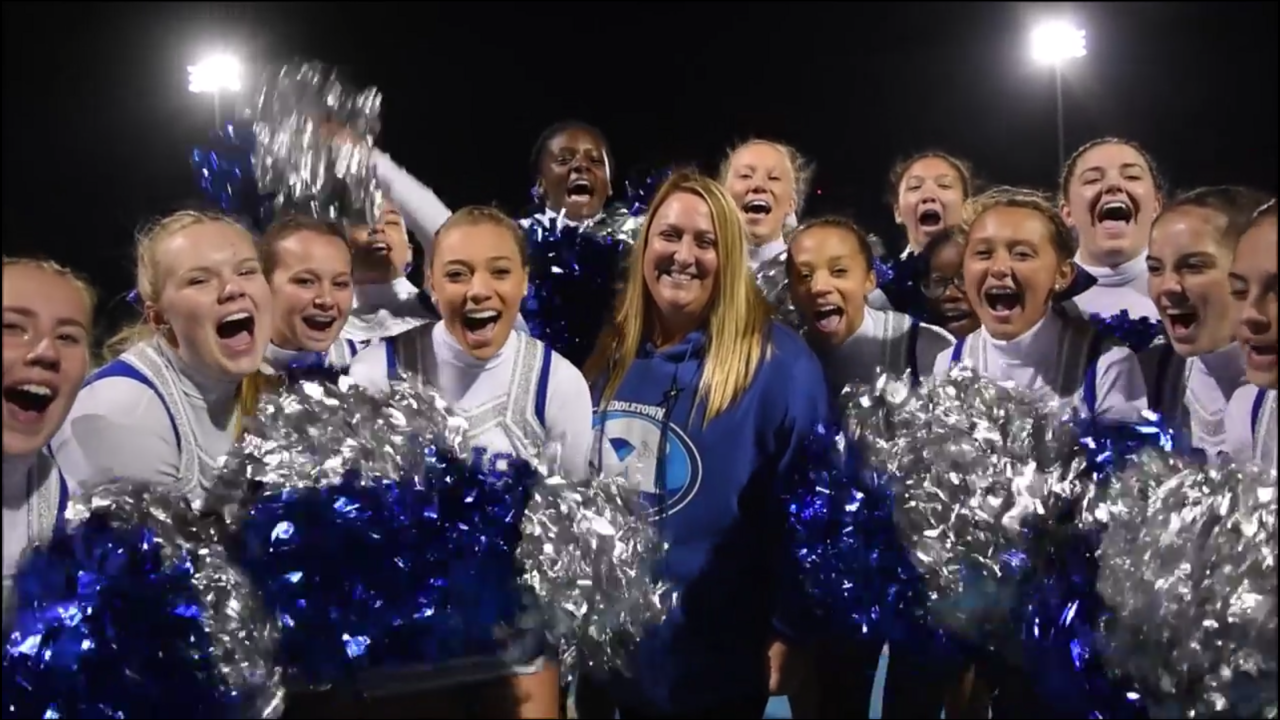 We are blue and white.  We are Middletown.