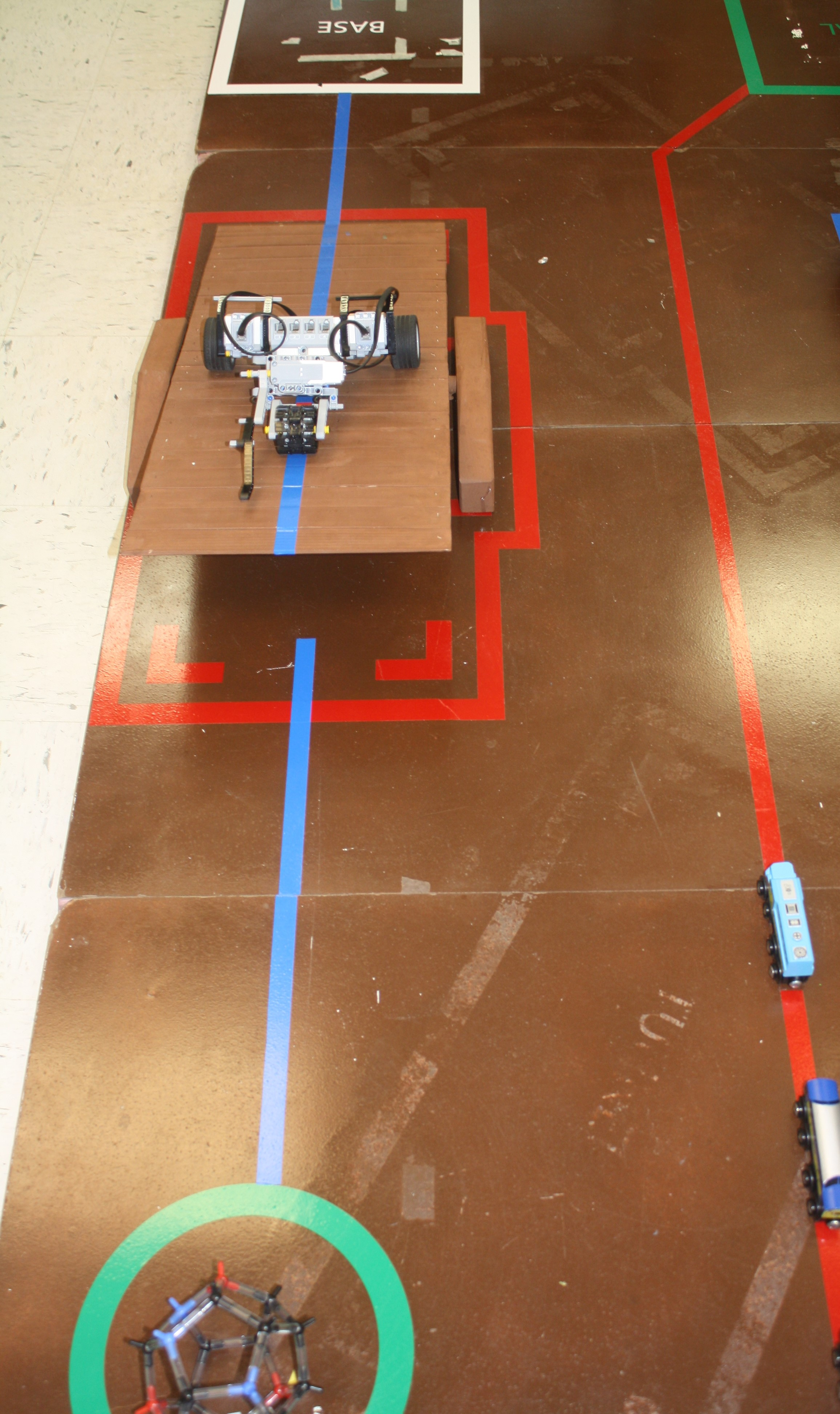 A photo of the robotics activity.