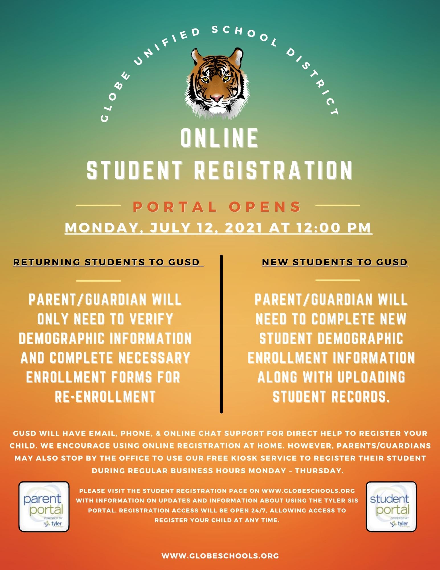 Online Registration Flyer