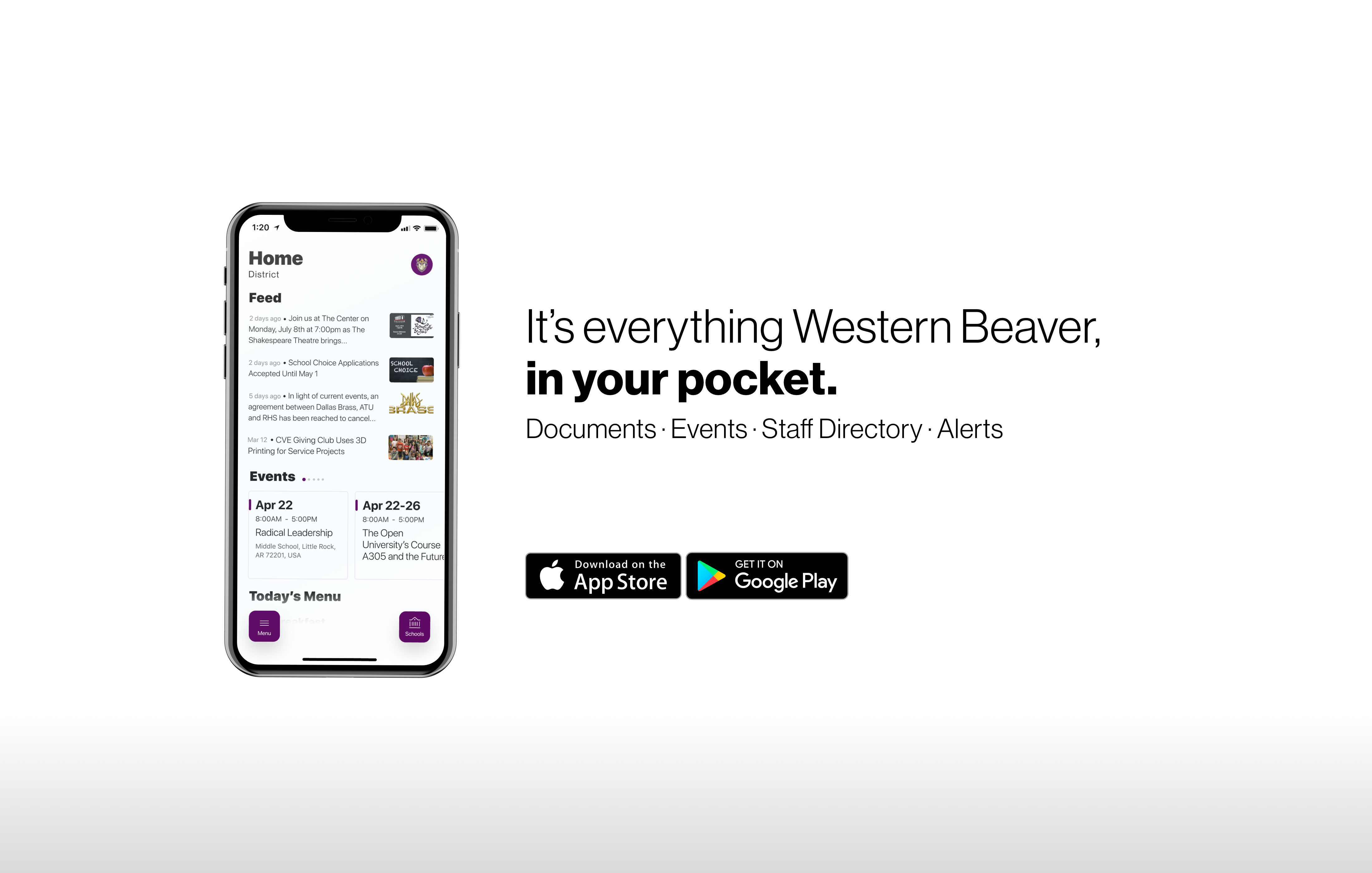 Download the our updated app! It's everything western beaver, in your pocket!