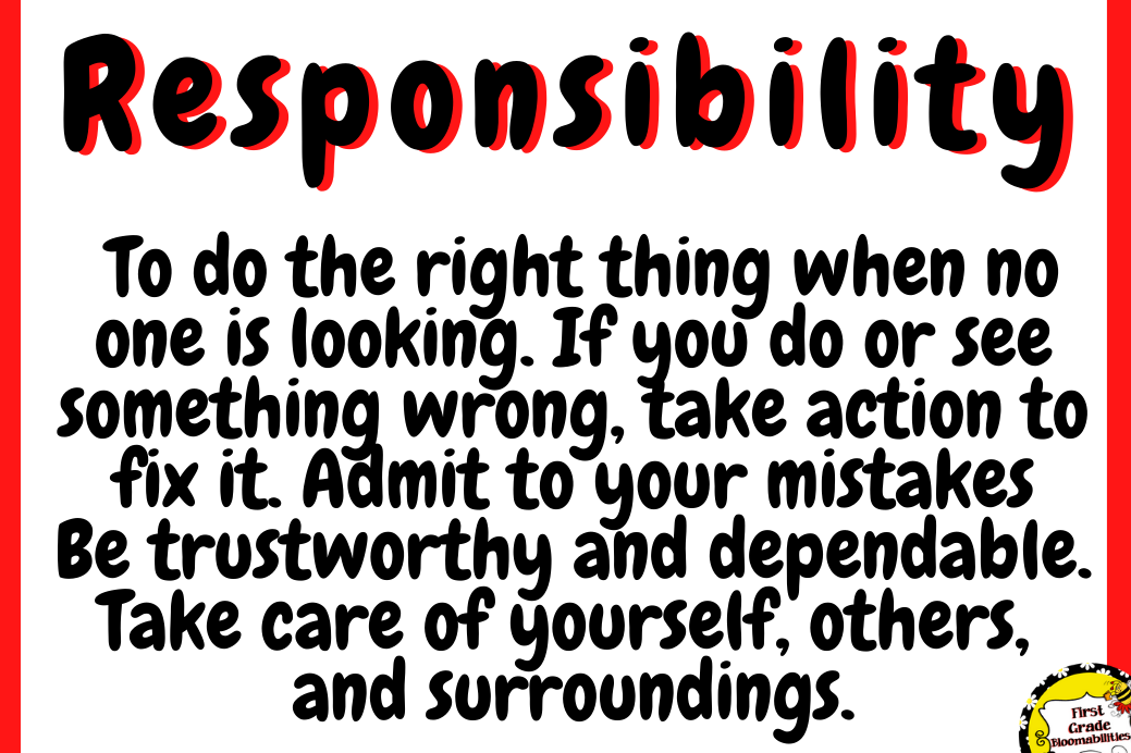 Word of the Month-Responsibility