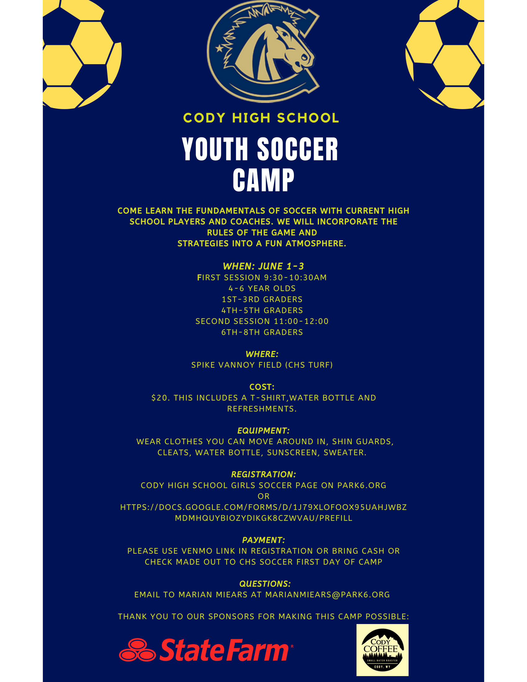 Youth Soccer Camp - Info