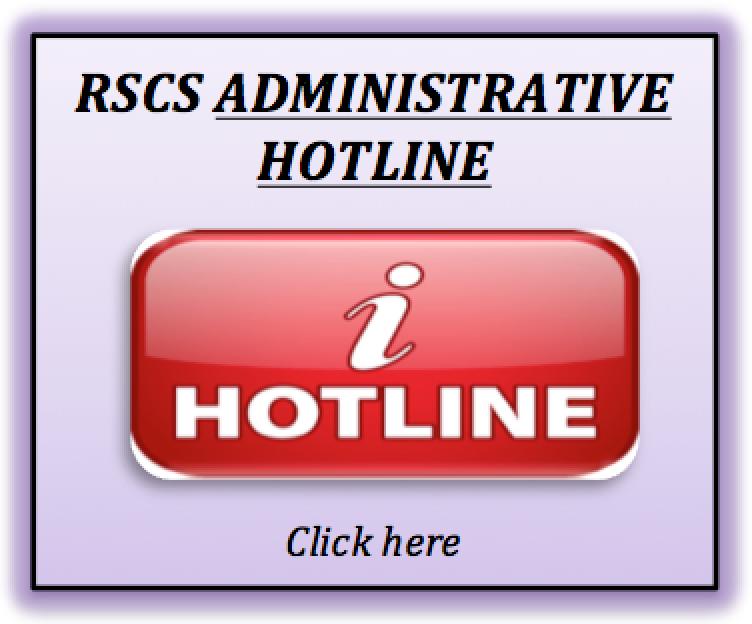 rscs administration hotline