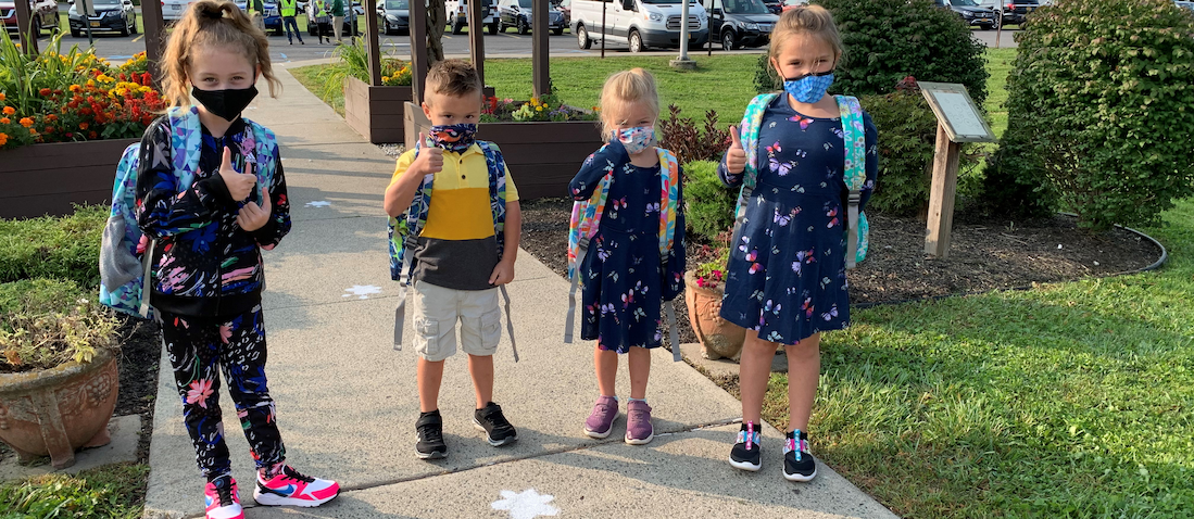 First day of the 2020-21 school year at Pieter B.