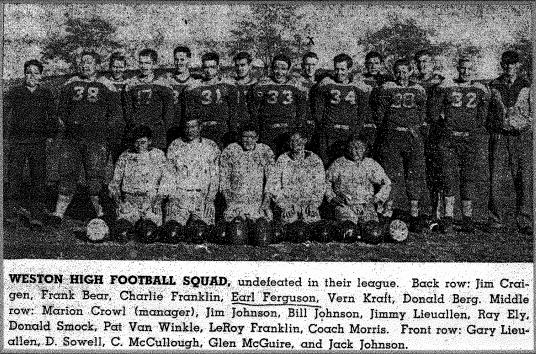 Weston Football Team