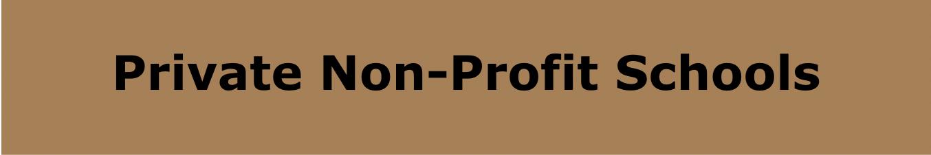 Private Non-Profit Schools