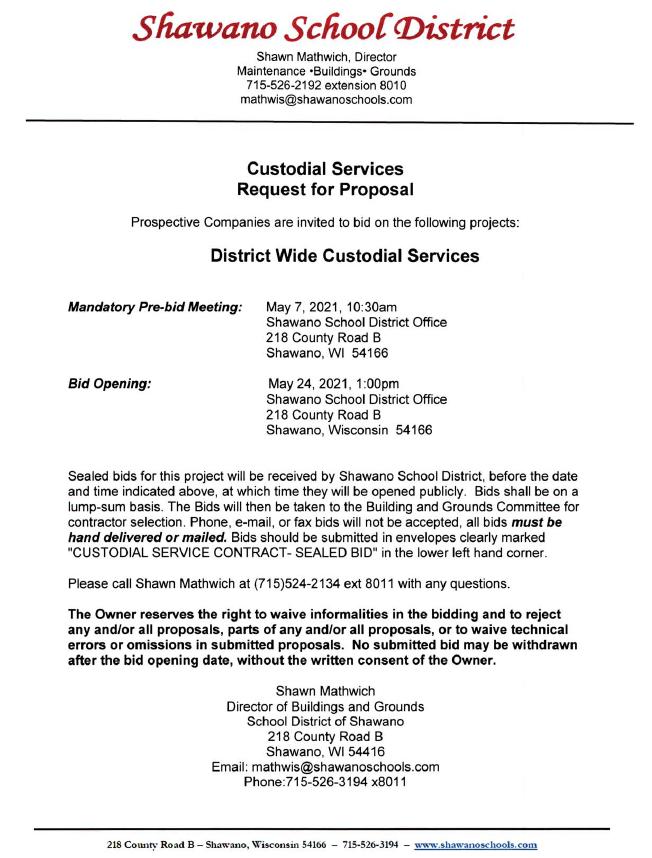 Custodial RFP