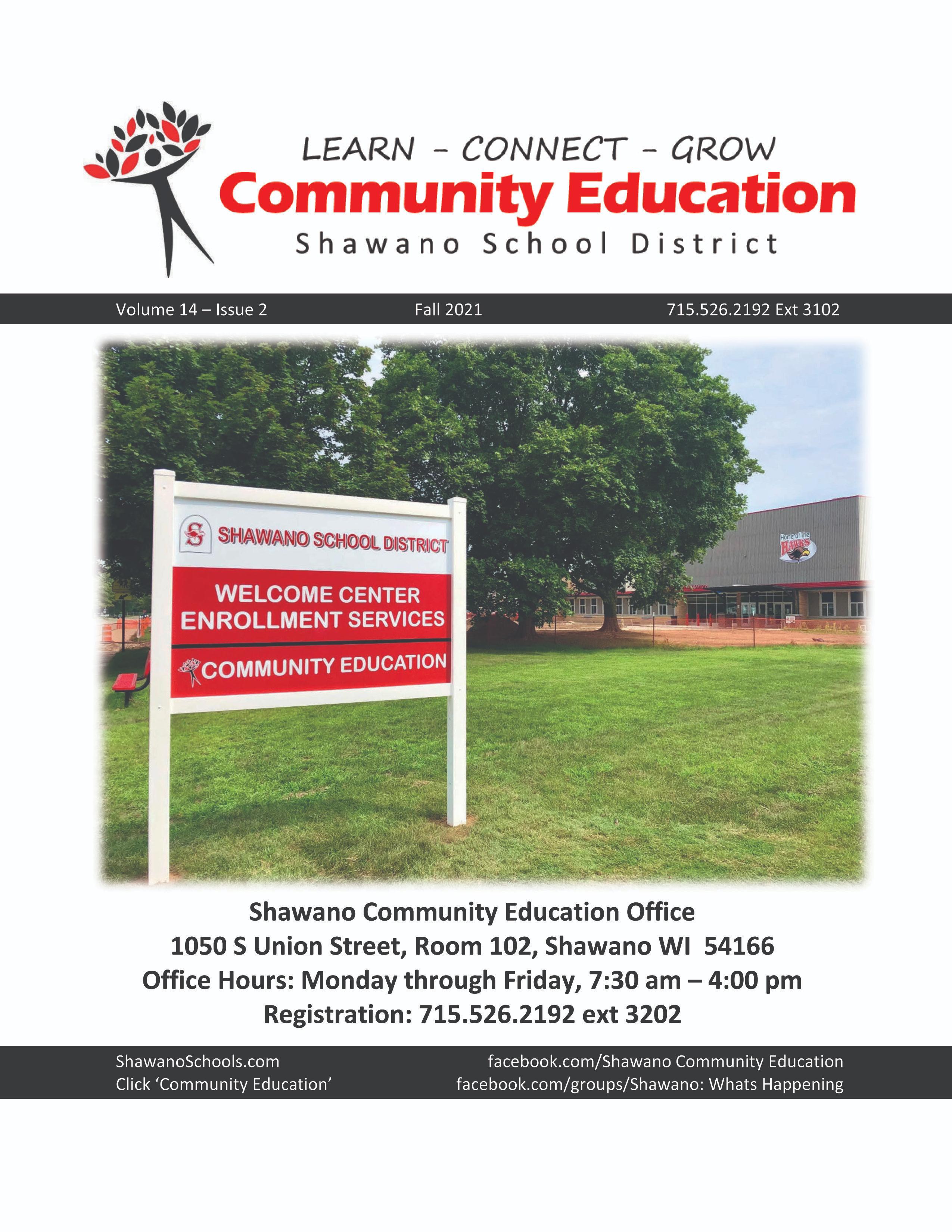 Current Shawano Community Education Catalog, Fall 2021