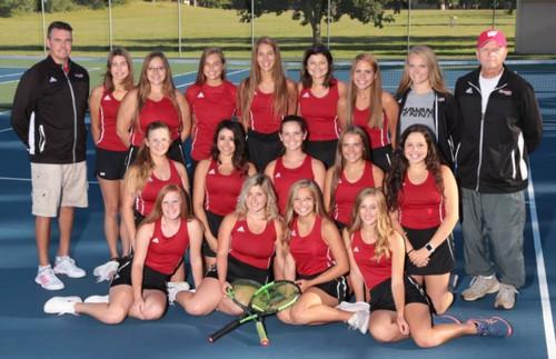 2019 Varsity Girls' Tennis Team
