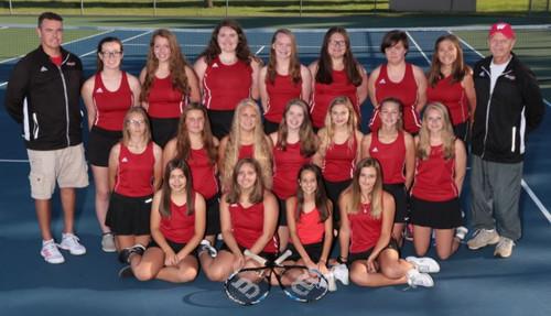 2019 JV1 Girls' Tennis Team