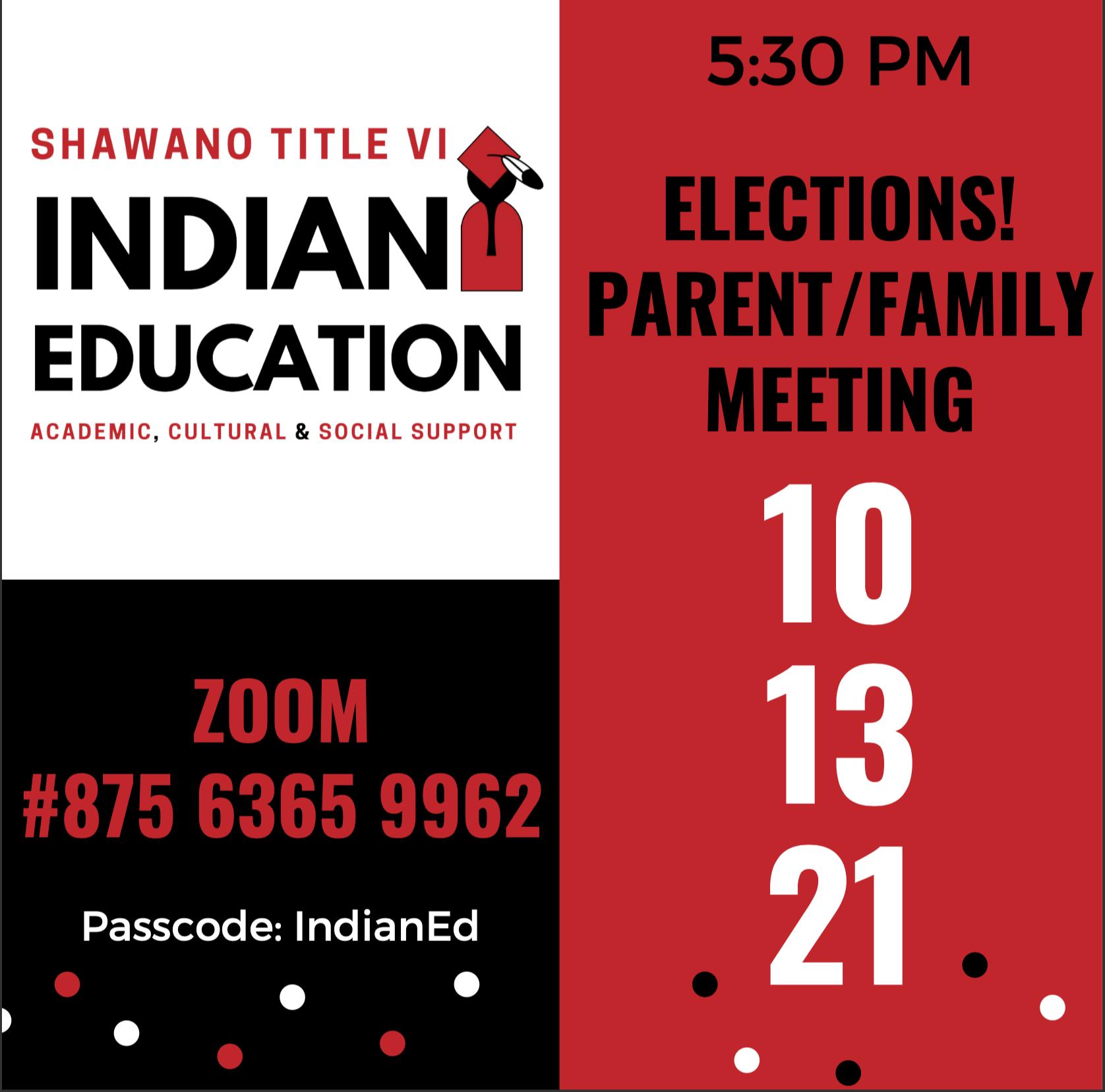 Parent Meeting 10/13/2021
