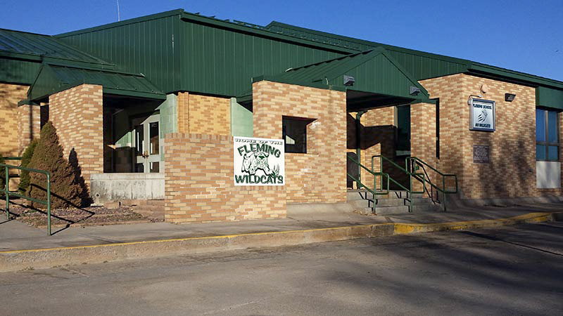 Fleming School Town of Fleming Colorado