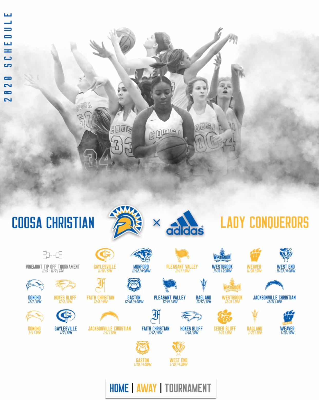 Lady Conqueror Basketball Schedule