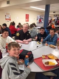 Children around a lunch table