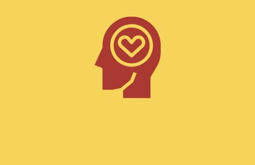 head with heart in brain