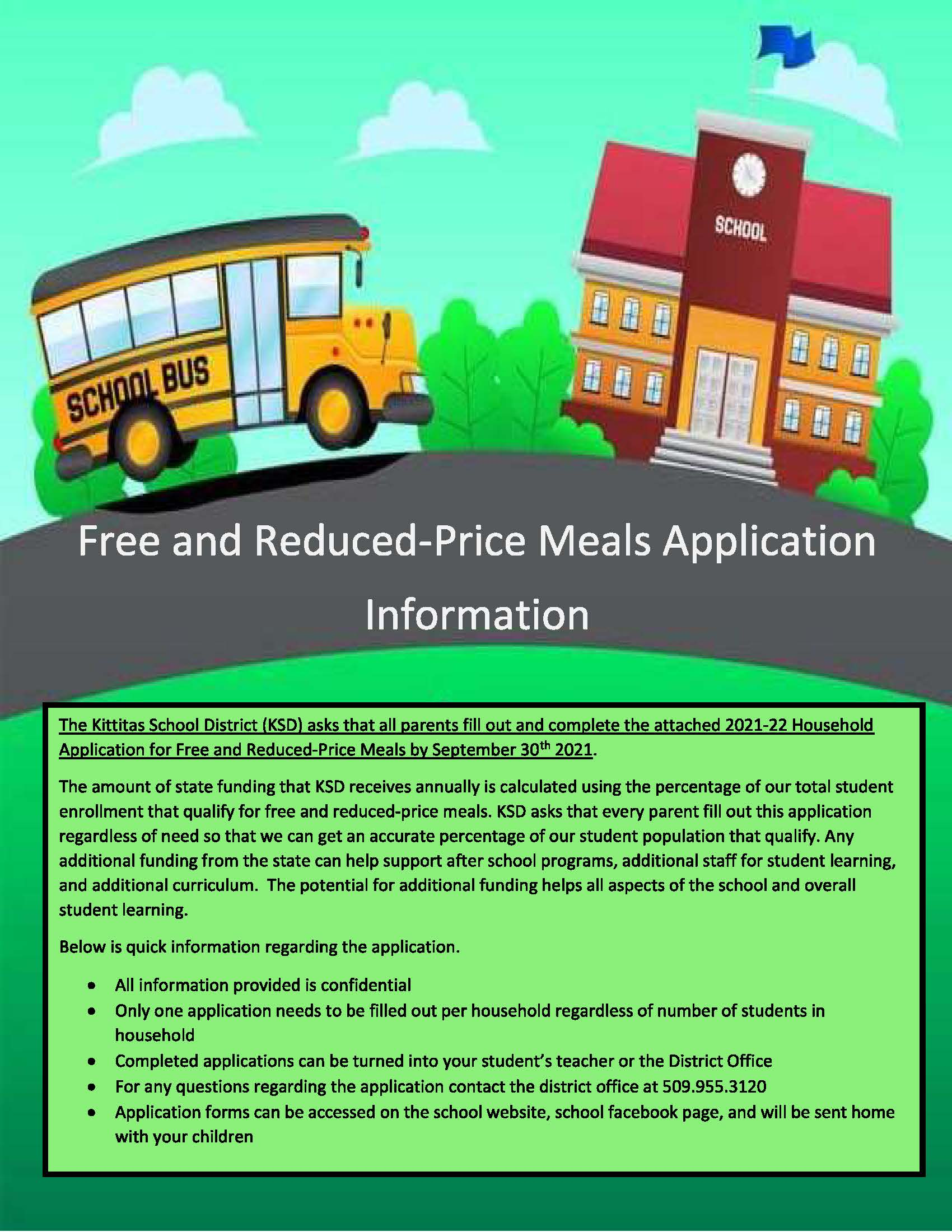 Free and Reduced Price Meals Application Information