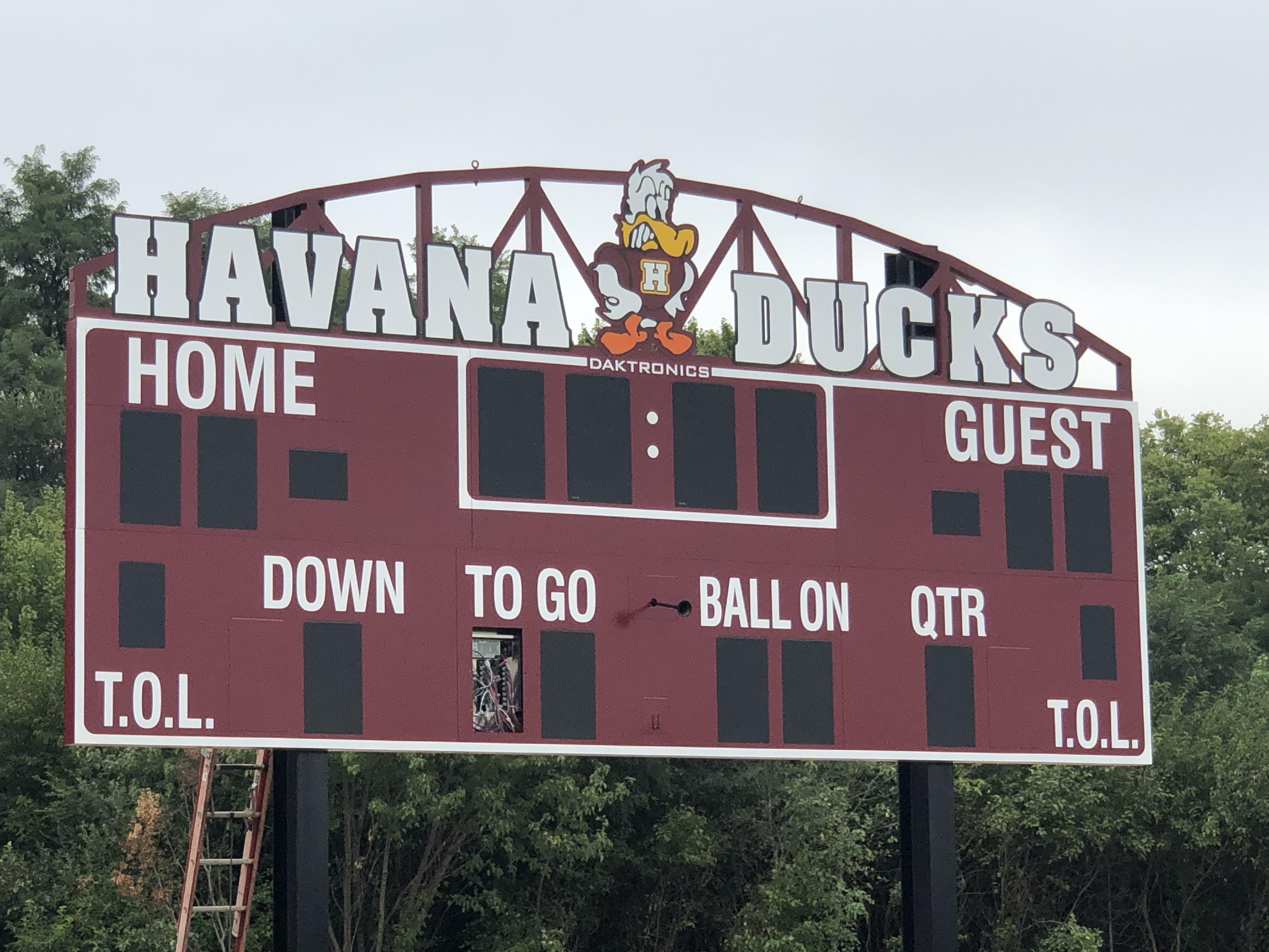 New HAVANA DUCKS Football Scoreboard!!!