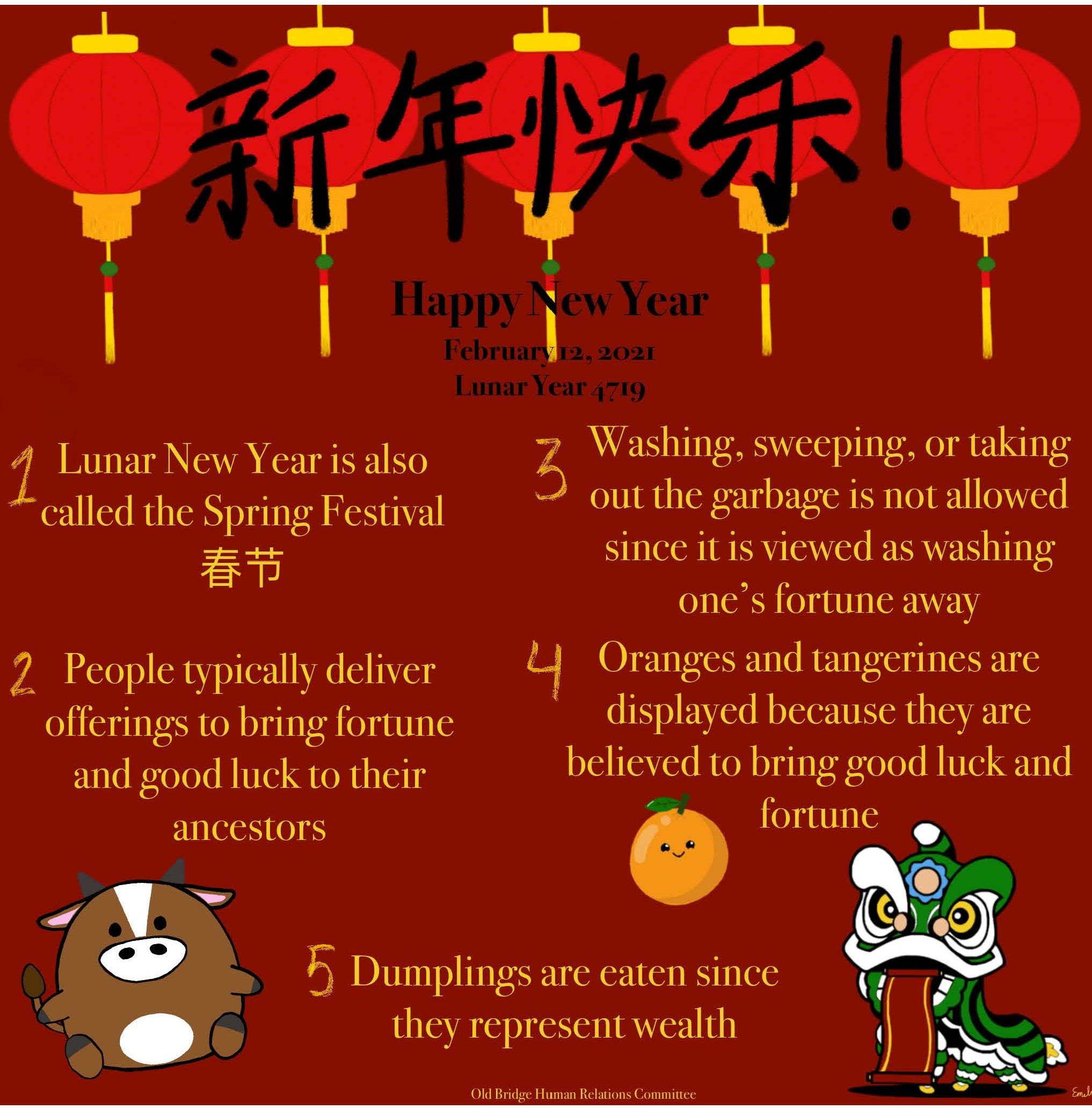 Graphic depicting lunar new year 2021