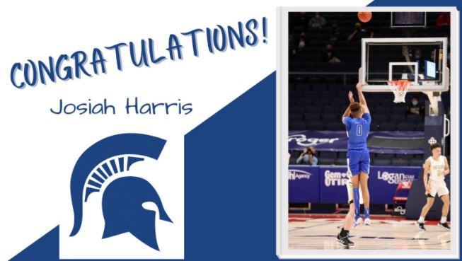 image of basket ball player congratulations josiah harris