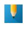 image yellow pencil on blue background