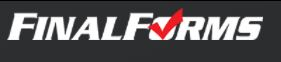 image of final forms logo with a check mark image