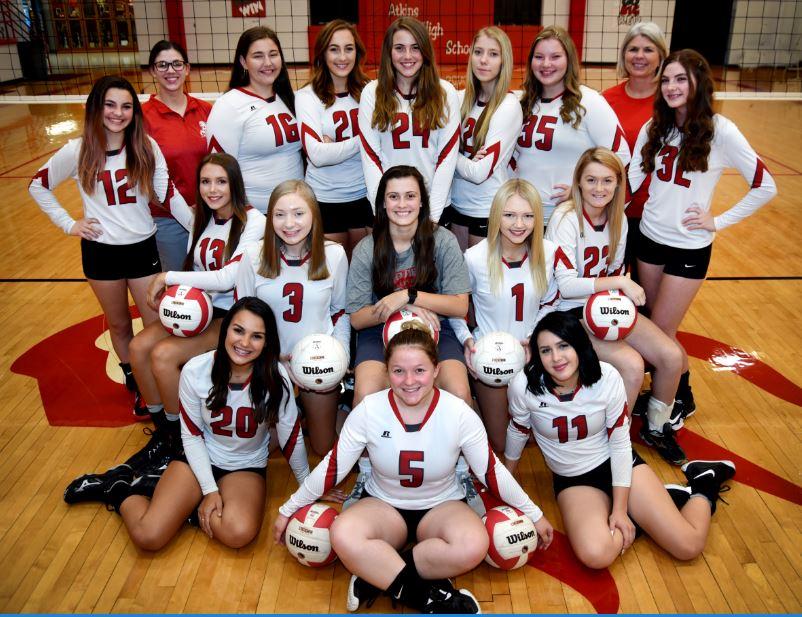 SR high Volleyball team