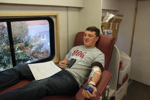 Student Donating Blood