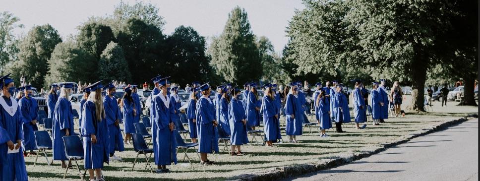 Seniors at Graduation