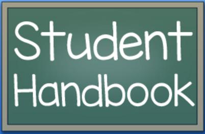 Student Handbook chalkboard