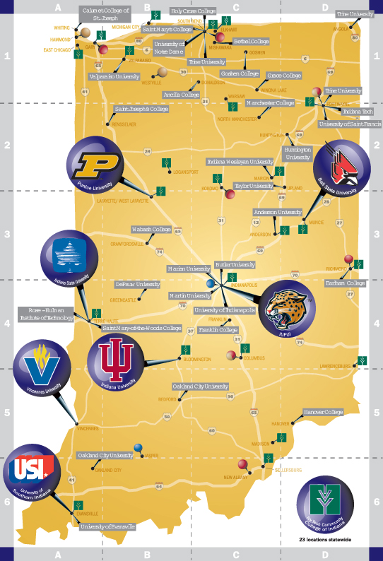 Indiana Colleges and Universities
