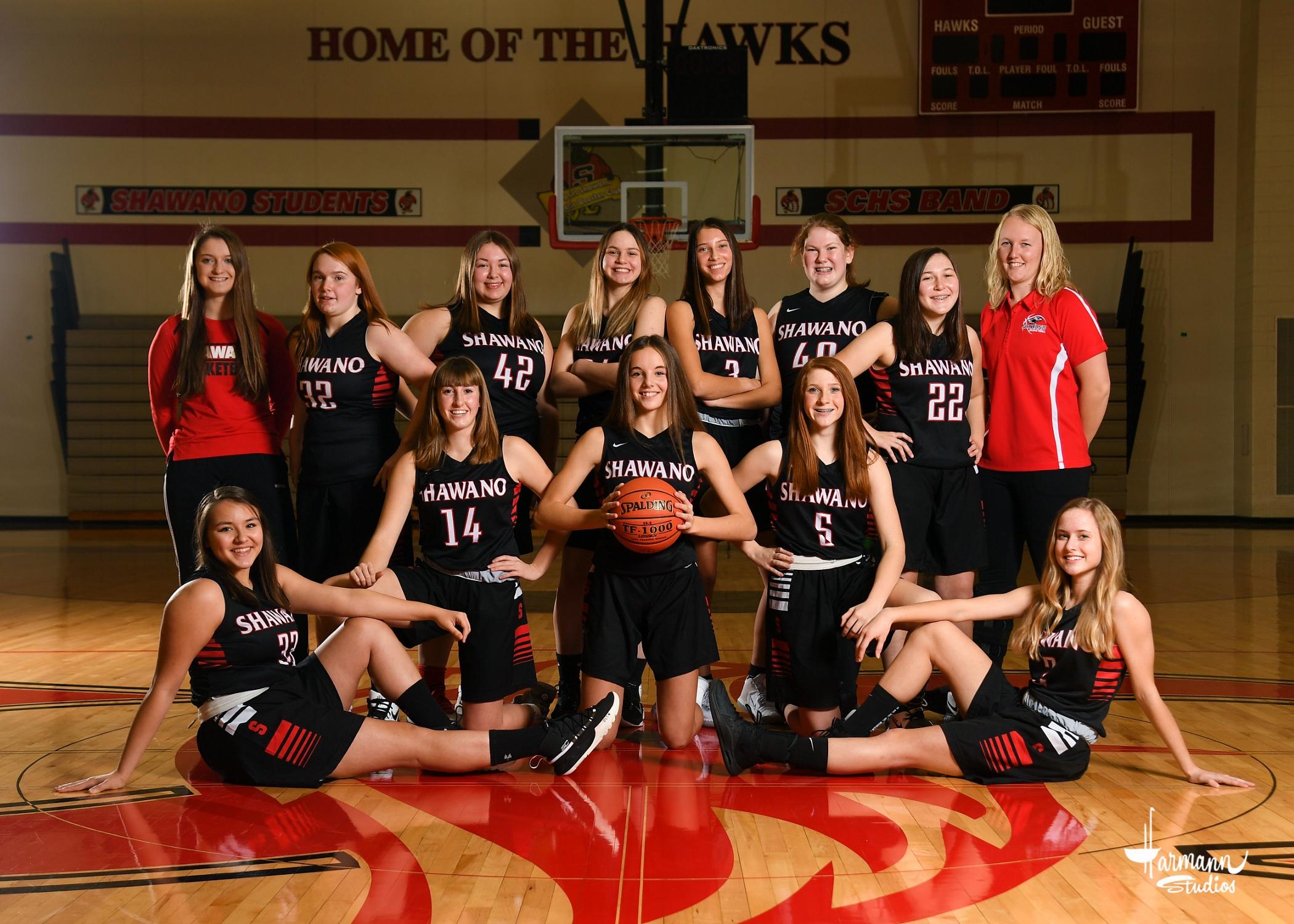 2020-21 JV1 Girls' Basketball Team