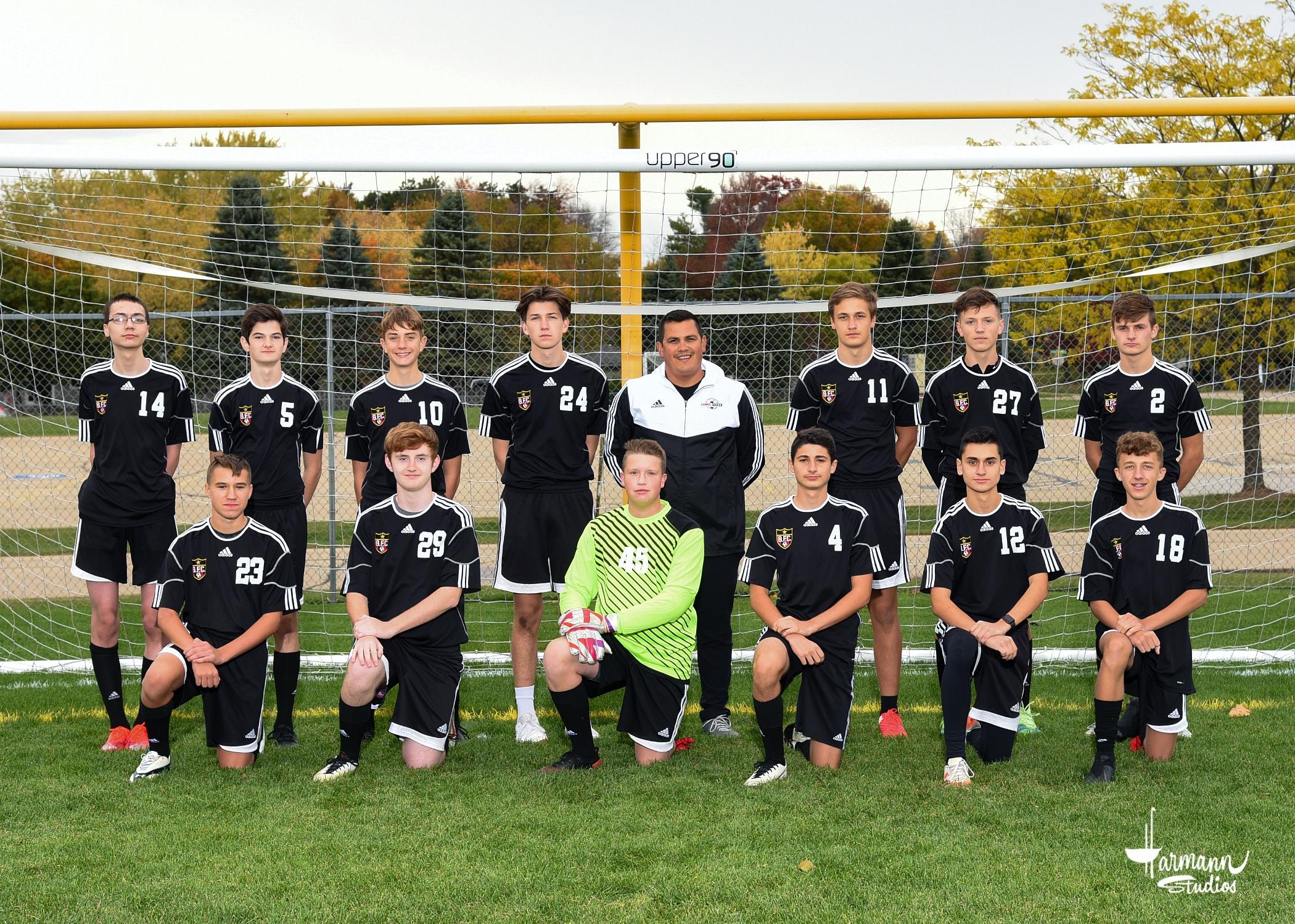 2020 JV1 Boys' Soccer Team