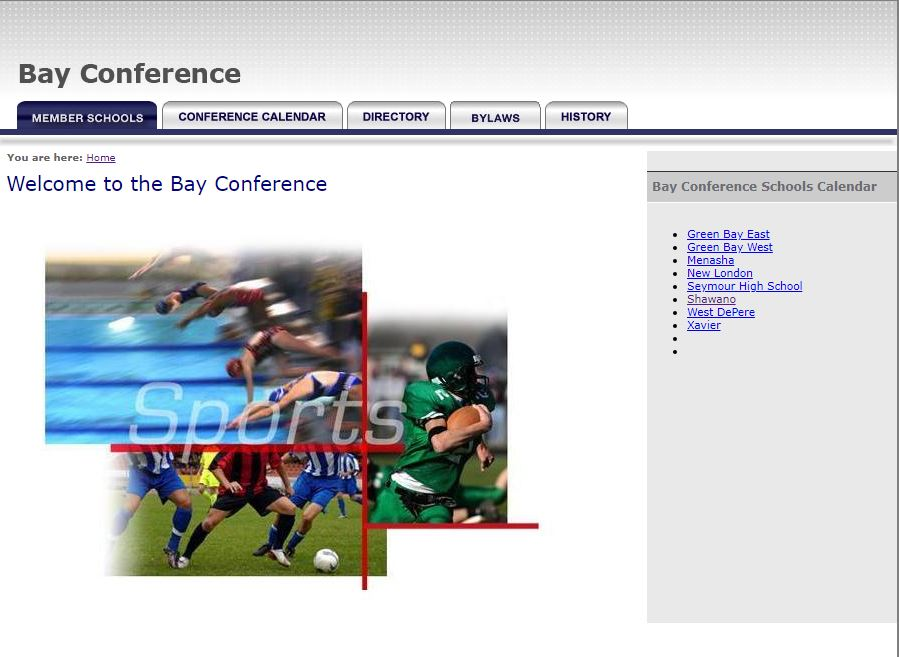 Bay Conference Webpage