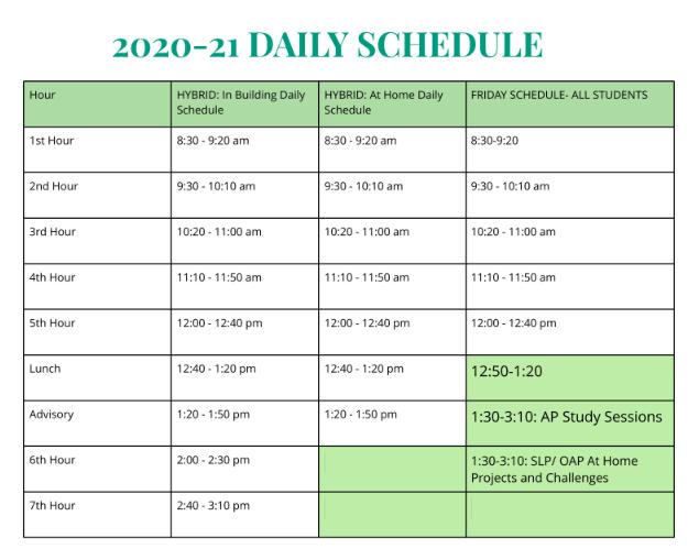 TrekNorth Hybrid Learning Schedule