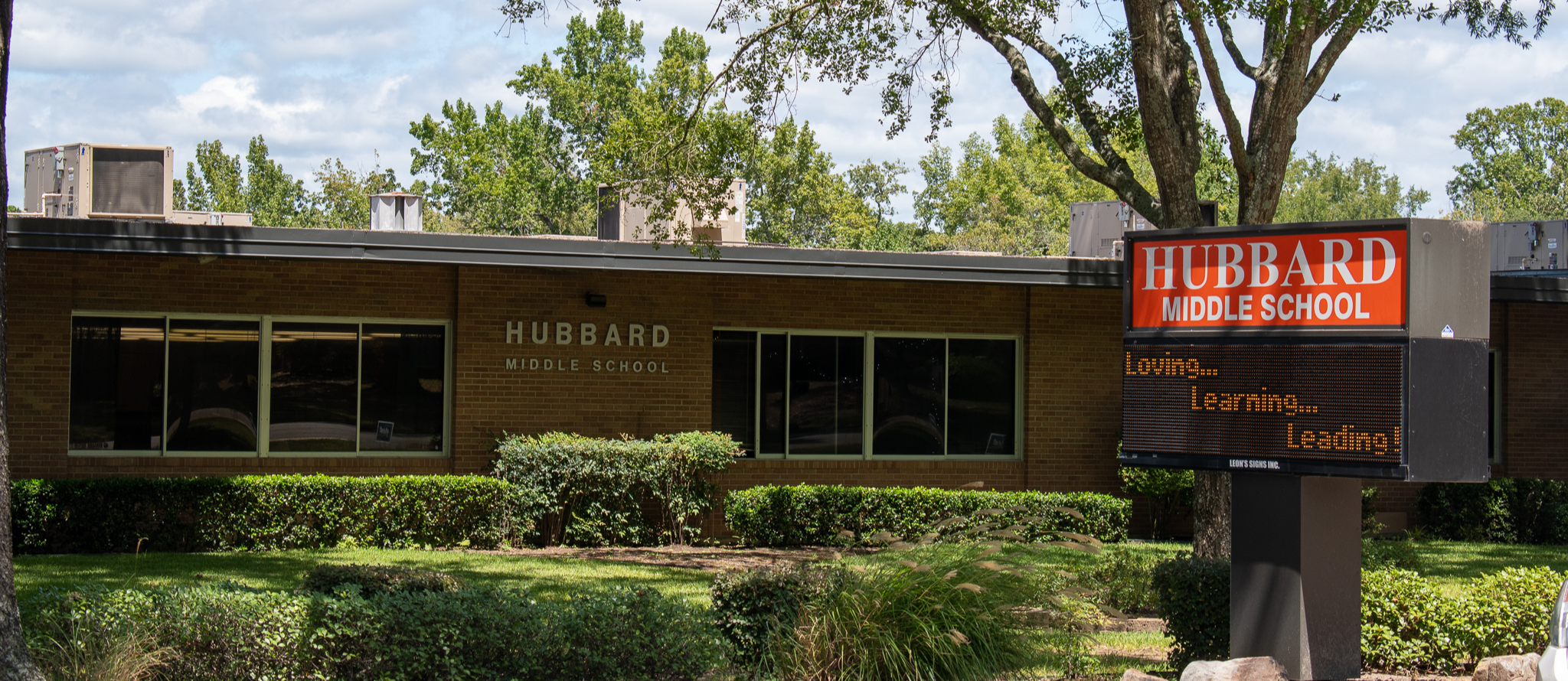 Front of Hubbard Middle School