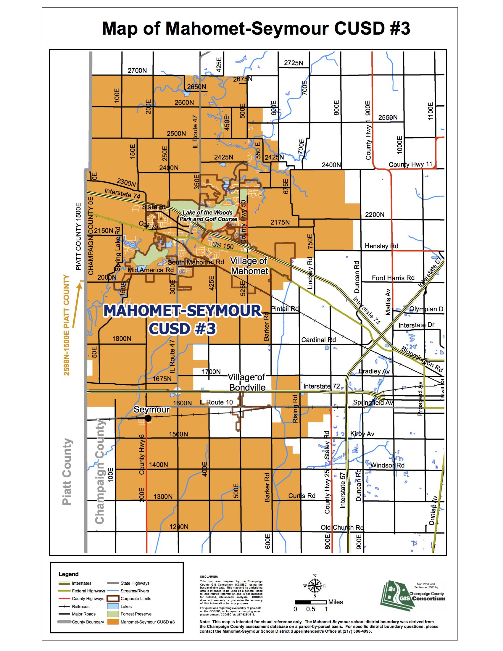 MAP OF MAHOMET-SEYMOUR CUSD #3